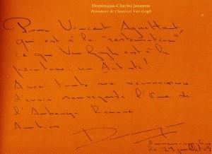 Dominique Janssens dedication ཨོཾ་མ་ཎི་པ་དྨེ་ཧྰུྃ།